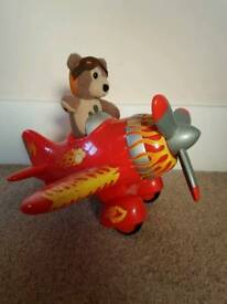 Charley Bear with Aeroplane