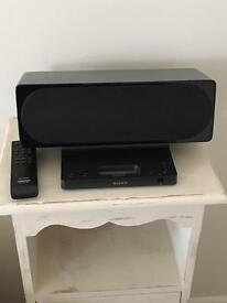 Sony iPod / iPhone dock speaker system with remote
