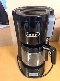 DeLonghi Black Filter Coffee Maker Machine