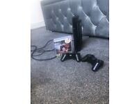 PlayStation 3 . Super Slimline with 2 wireless controllers and cable and fifa game