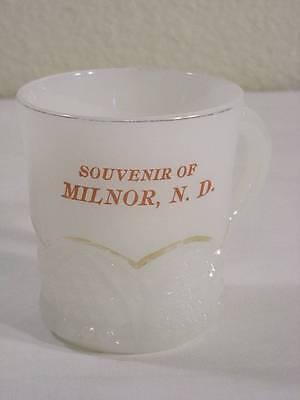PRESSED GLASS SOUVENIR OF MILNOR NORTH DAKOTA