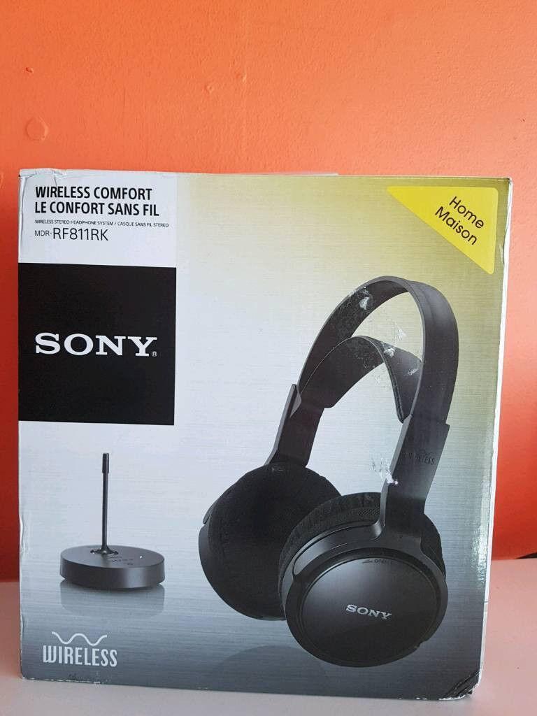 Sony Mdrrf811rk Wireless Headphones Black As New In
