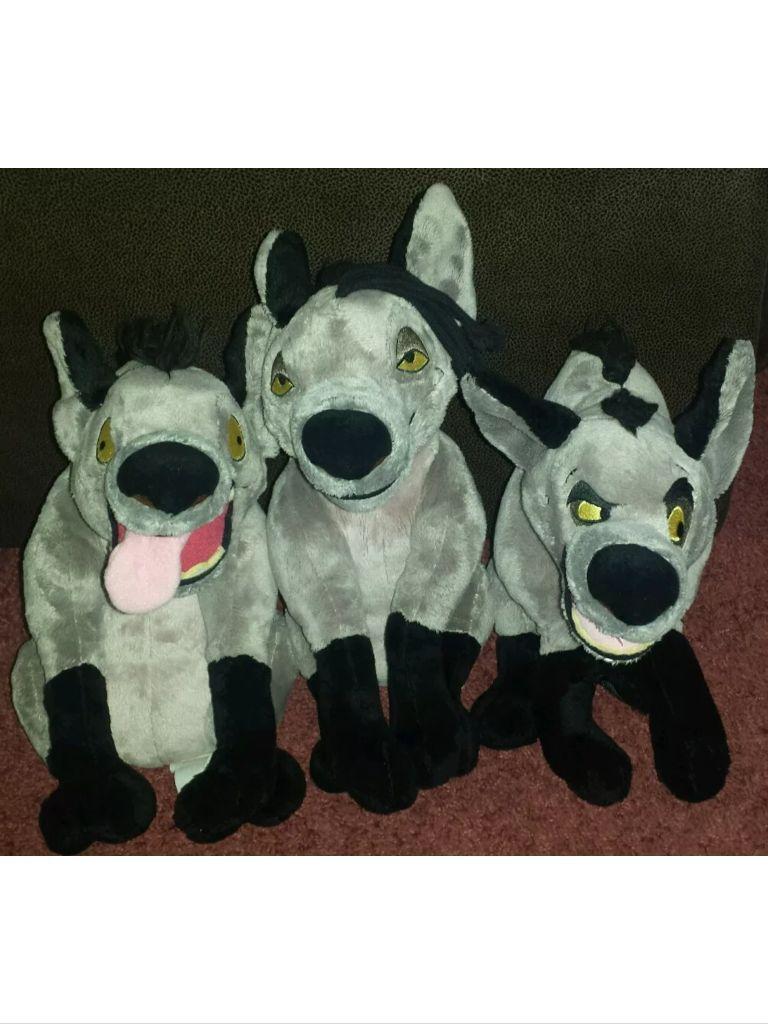 Disney scar hyenas soft plush toys bundle lion king ed