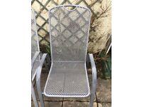 5 metal garden chairs