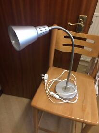 IKEA Desk/Work Lamp, Grey, Comes with Light Bulb