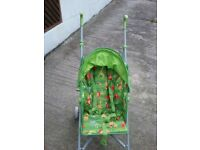 green jungle print mothercare JIVE pushchair stroller as new