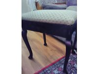 vintage piano stool with storage space under the seat