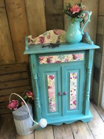 Upcycled Painted Turquoise Shabby Chic Cupboard Dresser Annie Sloan Provence