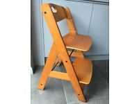 Wooden Hauck High Chair (like Tripp Trapp)