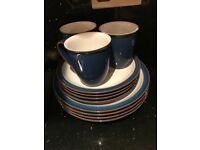 Denby Blue Imperial Plates and Mugs