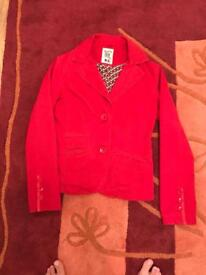 Women's red women blazer