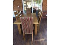 Dfs solid extendable table and 6 chairs Cost over £1500