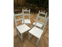 REDUCED FOR QUICK SALE SET 4 DINING CHAIRS