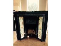 Stovax fireplace with beautiful handmade tiles