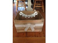 Wooden wedding card crate - rustic