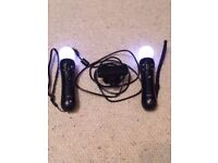 Sony Playstation3 Move Controllers and Playstation Eye Camera