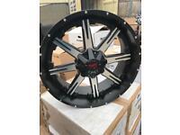 """4 22"""" alloy wheels alloys rims tyre tyres ford ranger 6x139 4x4 Mitsubishi Nissan"""