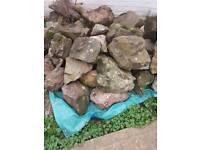 Garden granite rocks