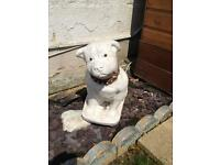 Dog stone garden ornament