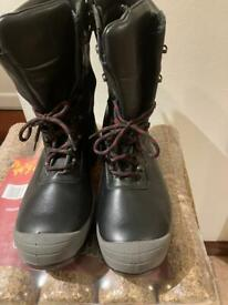 ****Diablo black leather Rigger Work Safety Boots with Steel Toe Caps****BARGAIN BUY****