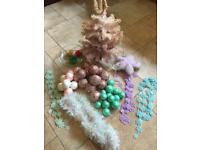 Box Of Christmas Decorations - (45 Pieces) - See Listing For Details Of Everything Included
