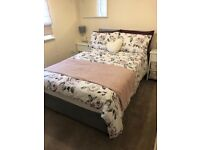 Double Divan Bed (with two drawers), Mattress & Headboard