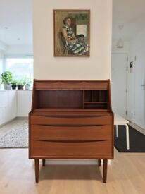 Mid Century 1960s Teak Danish Dressing Table Bureau ARNE VODDER Modern Sibast 60s