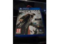 genuine ps4 + controller + cables+box + fifa17 + watchdogs + ufc
