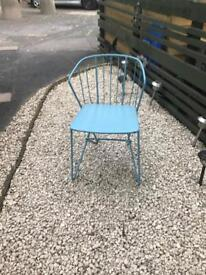 Retro metal chairs x10 ideal for cafe or bar etc. Will sell in pairs or all together