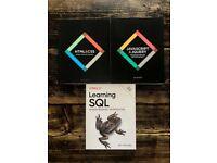 3 Computer Programming Books (HTML, CSS, Javascript, SQL) - Perfect Condition