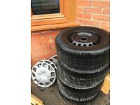 Transit custom wheels , tyres and wheel trims