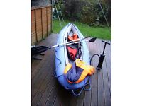 Sirocco Sevylor 2 Man Inflatable Canoe with 2 Life Jackets