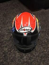 Motor bike helmet mint