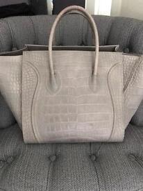 Celine phantom grey luggage tote hand bag
