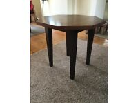 Wooden occasional/small dining, octagonal shaped table