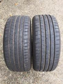 2 x 245/45/18 100Y Dunlop sport max Rt2 - 8mm, like new