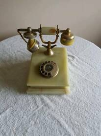 Antique marble phone