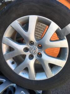 235/60/18 Yokohama ete 7-9/32 + mags Mazda 18 pouces