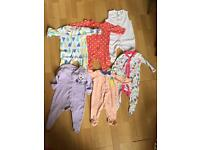 43 item baby girl clothes 0-3 months