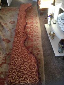 William Morris fabric ornate pelmet