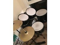 Acoustic drum kit - Rocket Music - snare toms bass hihat crash