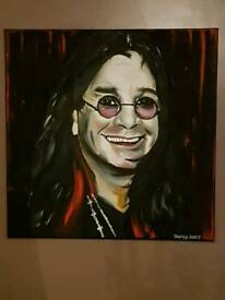 Ozzy canvas..painted not a print