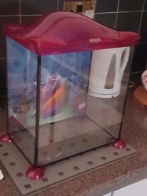 Pink mermaid fish tank
