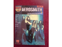 Learn To Play Bass Guitar Hal Leonard Aerosmith Tab Book