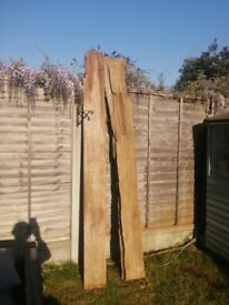 Two stunning beaitiful strong thick driftwood planks