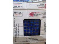 Blue ceramic mosiac tiles