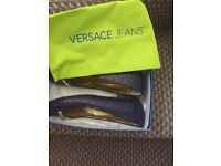 Versace blue flats worn once 39.5. Great bargain