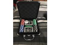 Poker card set with hard case