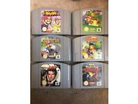 Nintendo 64 w/expansion pack, 2 controllers & 6 genuine top titles.