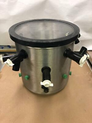 Lyophilizer Stainless Steel Drying Chamber With Lid And Silicon Valves 12inch